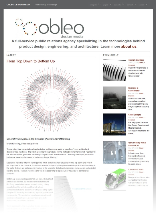 Obleo Design Media Screenshot